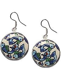 Blue Metal Dangle & Drop Earrings for Women