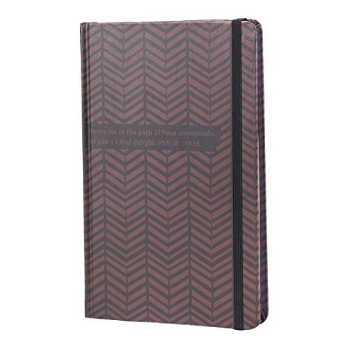 DaySpring Banded Bookbound Journal Embossed Diary Notebook w Elastic Band Closure, Chevron (79754) by Dayspring (Elastic Closure Band)