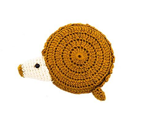 Craft Schneider Maßband 150 cm BZW. 60 Inch/Zoll Metermaß Und Nadelkissen – Zentimetermaß Nähzubehör Nähen Fair Trade (Igel braun)