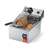 Vollrath (40706) 10 Lb. Standard-Duty 220V Electric Countertop Fryer - Cayenne® Series
