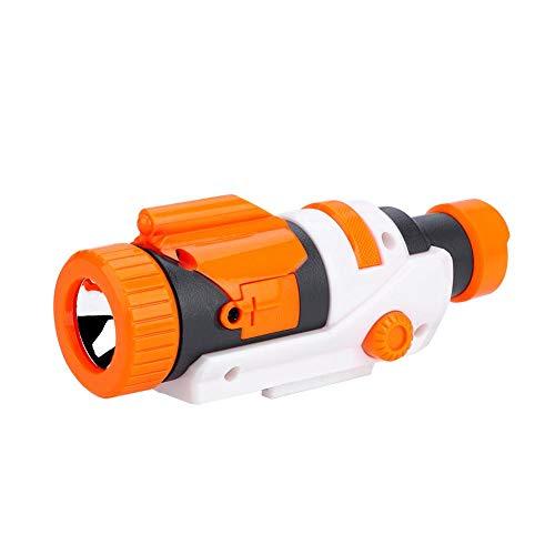 Qii lu Taktisches Licht Taschenlampe für Nerf, Kunststoff Abnehmbare Taschenlampe Zielfernrohr Befestigung Lager Mount Zielfernrohr Anblick für Nerf Ändern Spielzeug Nerf - Einfach Zu Montieren Kostüm