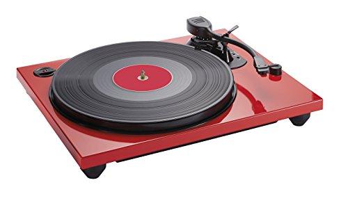 Bigben Interactive TD114R Rot - Plattenspieler (Rot, 33,45,78 RPM, Schallplatte)