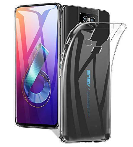 A-VIDET Cover for ASUS ZenFone 6 (ZS630KL), TPU Protective Silicone Ultra Thin Case Lightweight Anti-scratch Case Cover for ASUS ZenFone 6 (ZS630KL) (Transparent)