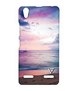 Vogueshell Old Filtered Ship Printed Symmetry PRO Series Hard Back Case for Lenovo A6000