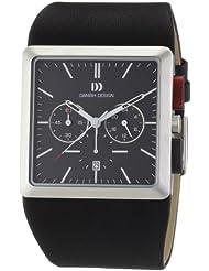 Danish Design - 3314356 - Montre Homme - Quartz Analogique - Chronomètre - Bracelet Cuir Noir