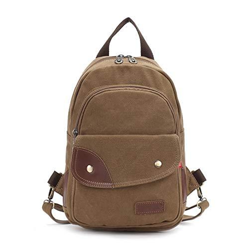rusttasche Retro Canvas Bag Dual-Use Brusttasche Herren Brusttasche Spot Großhandel Rucksack Umhängetasche Tasche Geschenk (Farbe : Braun, Größe : Free Size) ()