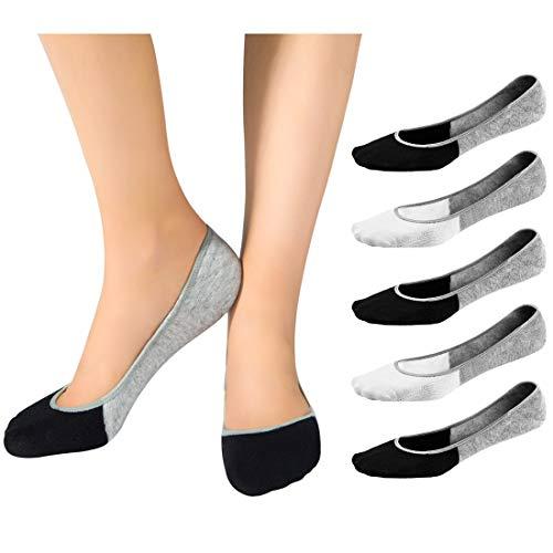 46b6c9c5b6587 Bamboo Fiber No Show Socks for Women- 3 or 5 Pairs Ultra Low Cut Socks