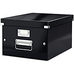 Leitz Wow Click & Store 60440095 Boîte de Rangement A4 Taille Moyenne Noir