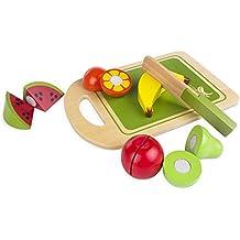 ColorBaby - Juego de frutas, madera natural, 12 piezas (42759)