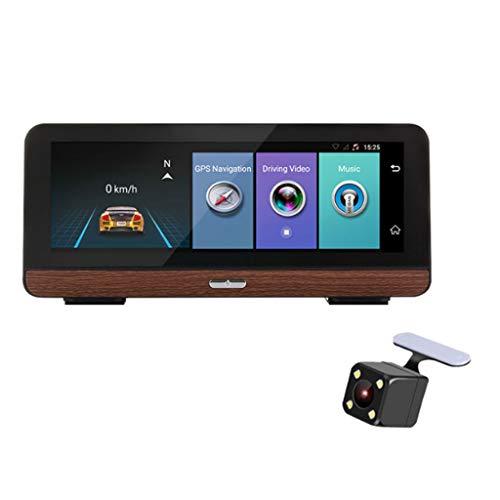 HAOHOAWU Spiegel Dash Cam, Dual Lens Touchscreen Dash Cam Für Autos Armaturenbrett Kamera Auto DVR Weitwinkel Recorder G-Sensor Einparkhilfe