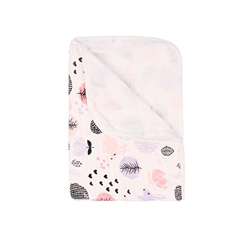 Wickeltuch, Baby-Wickeldecke, Kinderwagen-Decke für Neugeborene, weich und gemütlich, zwei Schichten Musselin-Baumwolle, unisex, 100x150cm