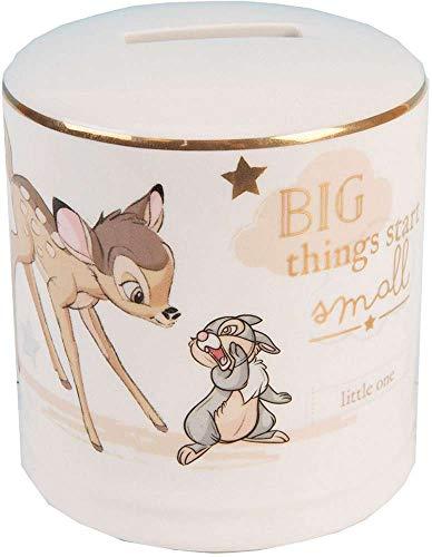 Widdop Co. Disney Magische Anfängen Keramik Spardose Bank, mit Gold Detail-Bambi