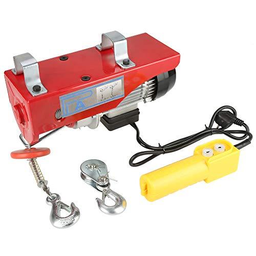 Hayon 100/200 kg Treuil électrique Housse de traction pour moteur avec poulie et crochet électrique pour soulever les charges 220 V