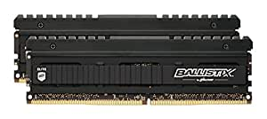 Ballistix Elite Kit di Memoria RAM DDR4 da 16 GB (8 GBx2), 2666 MT/s (PC4-21300), DIMM 288-Pin - BLE2C8G4D26AFEA