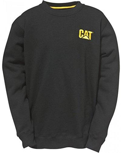 CAT Caterpillar C1910752 Marque commerciale à col ras du cou Chemises Workwear Unisexe Coton Noir XXL