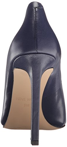 Nine West Tatiana Leather Pump Dress Dark Navy Leather
