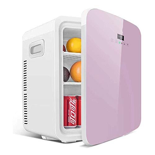 LMCLJJ 20-Liter-Compact Cooler/Warmer Mini-Kühlschrank/Weinkühler mit Digital-Thermostat Dual-Core Cooling for Autos, Autoreisen, Häuser, Büros und Schlafsäle (Color : Pink) -