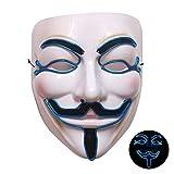 FOONEE Grimace - Máscara LED para Halloween y la luz fría