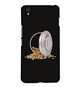 PrintHaat Designer Back Case Cover for OnePlus X :: One Plus X (a safe of gold coins :: I love gold :: gold coins :: gold in safe :: in silver, gold and black)
