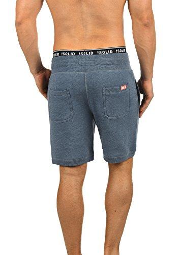 SOLID BennShorts Herren Sweat-Shorts kurze Hose Sport-Shorts aus hochwertiger Baumwollmischung Grey Blue Melange (1946M)