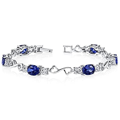 Revoni Designed just for you Oval Cut Created Sapphire &