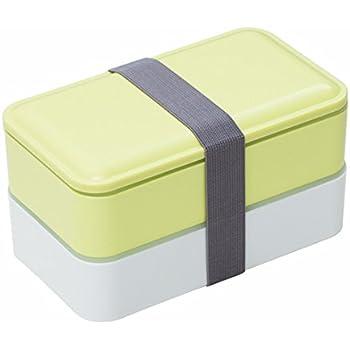 Lunchbox/Bento Box, MACDIAZ Microwavable Bento Lunchboxen 2 Layer Food Aufbewahrungsbehälter Mit Besteck FÜR Kinder Erwachsene, Mittagessen Container,Grün