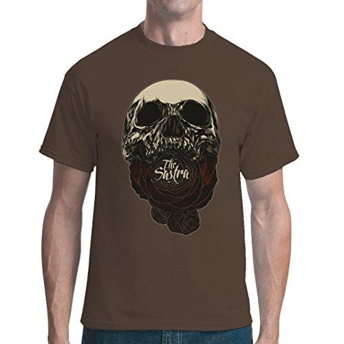 Gothic Fantasy unisex T-Shirt - Soul Eater Schädel by Im-Shirt - Bear Brown 5XL (Schädel-brown-t-shirt)