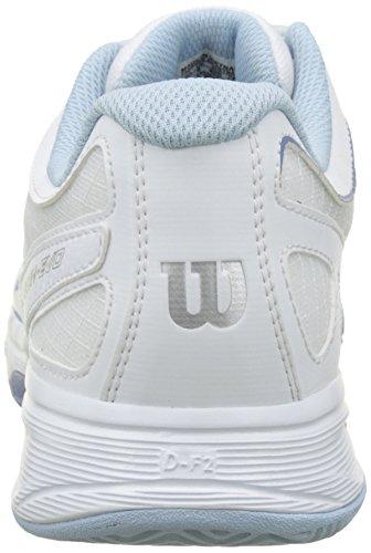 Wilson Damen Rush Evo Tennisschuhe Mehrfarbig (White/White/Stonewash)
