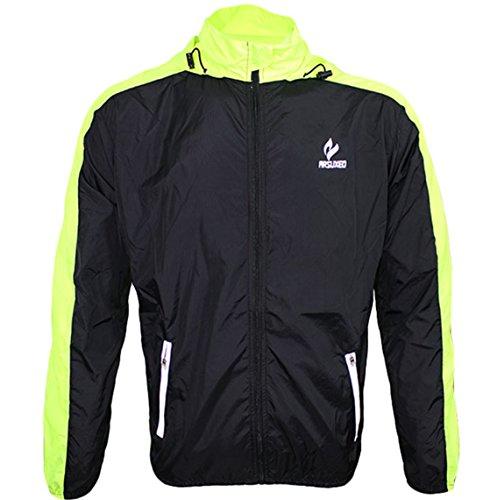 Lovache Radjacke Winddicht Herren Leicht Wasserdicht Atmungsaktiv Radsportbekleidung Regenbekleidung Top Regenjacke -