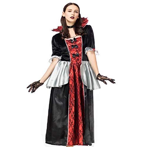 Teufel Gothic Kostüm Weiblich - DUQA Halloween Kost¨¹m Ball Cos Devil Ghosts Kleidung Hexen Uniform Gothic Vampirin Kost¨¹me
