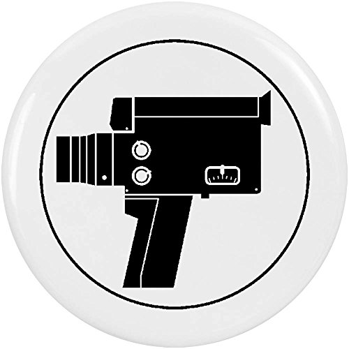Azeeda 2 x 38mm \'Filmkamera\' Pin Knopf-Abzeichen (BB00008409)