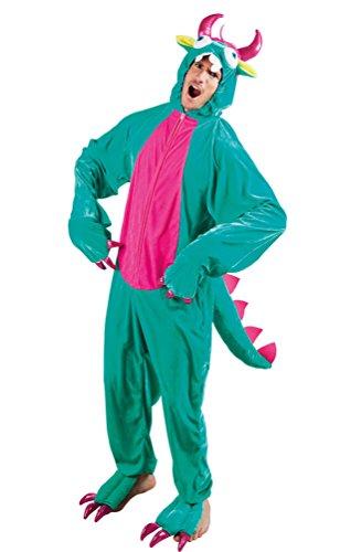 Monster High Kostüm Herren - Monster Kostüm Herren aus Plüsch Märchen Herren-kostüm inkl. Plüsch-Kappe Karneval Fantasy Einheitsgröße