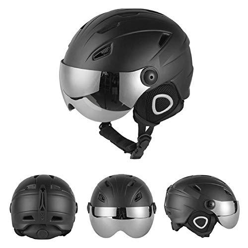 Casque de ski Homme, Masque de sécurité Masque Accessoires de ski Casque de snowboard Casque de sport de neige -pour hommes, femmes et jeunes