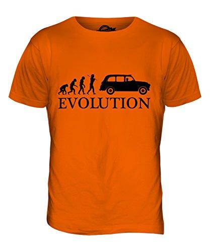 CandyMix Taxi Londoner Black Cab Evolution Des Menschen Herren T Shirt Orange