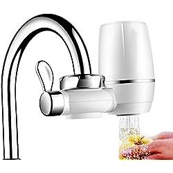 funrui 9capa de grifo filtro de agua de grifo filtro para grifo con cartucho de filtro de agua interno., purificador de agua para grifo, grifo, cocina? Fácil de instalar