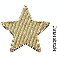 Applikation Aufnäher Patch Knieflicken Flicken Hosenflicken beige grün Sterne