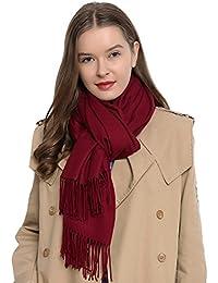 Damen Schal einfarbig weich 185 x 65 cm
