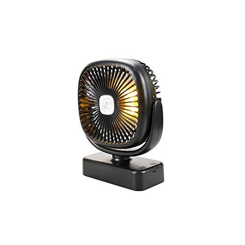 APXZC Tragbarer Zeltventilator, mit LED-Licht USB-Aufladung, Haken Thang entwickelt, leicht und bequem, leiser Betrieb, geringerer Stromverbrauch, für Sommerausflug Camping