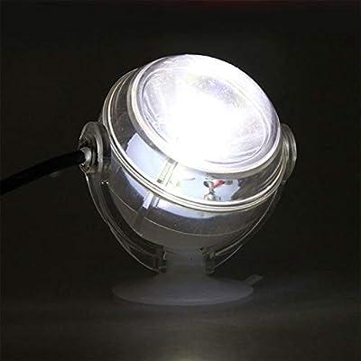 Nrpfell Lampe sous-Marine a LED Lumiere d'aquarium Etanche a Prise UE 110V 220V LED pour Corail Recif Aquarium Lumiere d'aquarium Submersible Lampe projecteur Blanc