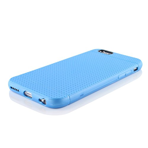 Étui iPhone 6 / 6s, Urcover Point Edition TPU [Ajustement Parfait] Apple iPhone 6 / 6s Protection Silicone Coque Rouge Housse Case Bleu
