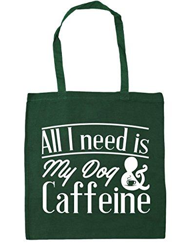 hippowarehouse-all-i-need-is-my-dog-caffeine-tote-shopping-gym-beach-bag-42cm-x38cm-10-litres