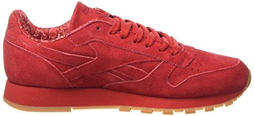 Reebok Herren Cl Leather Tdc Laufschuhe Rot (Scarlet/white-gum)