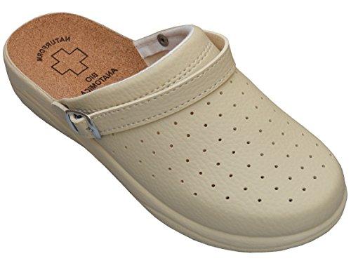 Bawal Sughero Pantofole da Donna Sandalias Scarpe Sanitarie Bianco Nero Ciabatte Ospedale Lavoro Comodo 36-41 (40 EU, Beige 4016)