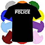 Undercover Police Fancy Dress Copper Old Bill Kids Boy Girl Cotton Short Sleeve T-Shirt – Sizes 1 Year Old – 14 Year Old