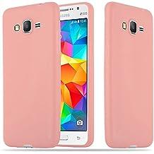 Cadorabo - Cubierta protectora Samsung Galaxy GRAND PRIME (G530) de silicona TPU en diseño Candy - Case Cover Funda Carcasa Protección en CANDY-ROSA