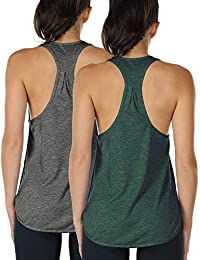 icyzone Yoga Sport Tank Top Damen Racerback Lauftop Fitness Running Shirt  Oberteile 87925afa93