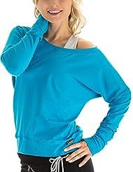 Winshape WS2 Tee-shirt à manches longues pour femme Pour loisirs, sport et danse M Turquoise - Turquoise