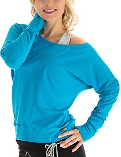 Winshape Damen Longsleeve Freizeit Sport Dance Fitness, Türkis, XL, WS2 (T-shirt Länge Ärmel)