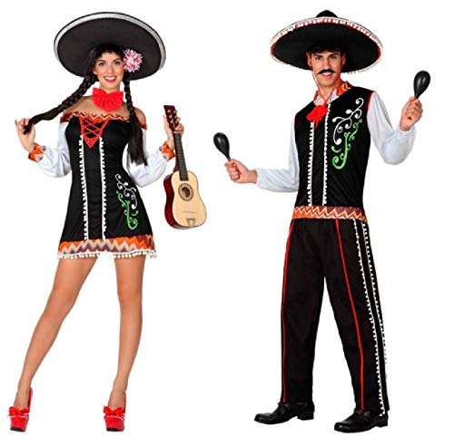 Traditional Matching Mexican Outfits for Couples. Sizes 8 to 18.