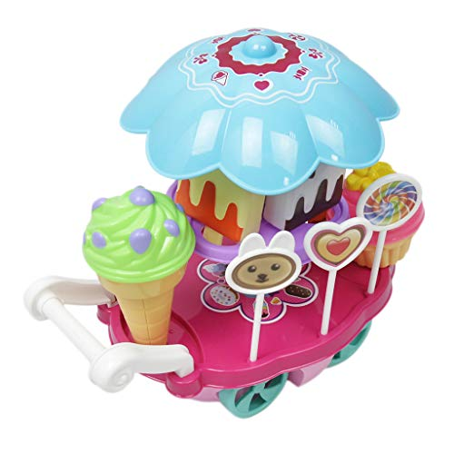 Perfeclan Ice Cream Cart 9 PCS Pretend Play Juego